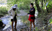 All Wam Hot Messy Lesbian Girls Like Playing In The Woods Outdoors All Wam