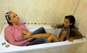 All Wam Adorable Lesbian Hotties Enjoy Taking A Warm Soapy Bath All Wam