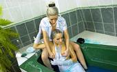 All Wam Two Horny Lesbians Enjoy Sharing A Bathtub Filled With Goo All Wam