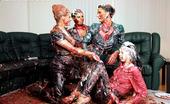 All Wam These Crazy Horny Ladies Enjoy Rubbing Dirty Cream On Bodies All Wam