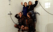 All Wam Five Amazing Clothed Lesbians Love Sharing A Fetish Shower All Wam