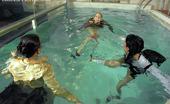 All Wam Three Very Horny Pool Babes Love Splashing Around In Water All Wam