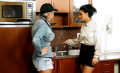 All Wam Two Pretty Teen Girls Pleasuring Each Other In The Kitchen All Wam