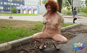 Cuties Flashing Red-Haired Puss Shows How Much She Loves Flashing Cuties Flashing