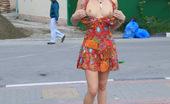 Cuties Flashing Sizzling Hot Butt Flashing In The Street In Summer Cuties Flashing