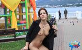 Cuties Flashing Hot Public Nudity Show From A Tight-Bodied Vixen Cuties Flashing