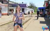 Cuties Flashing Totally Shameless Flashing On The Rail Station Cuties Flashing