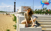 Cuties Flashing Piping Hot Public Nudity Shoot From The City Beach Cuties Flashing