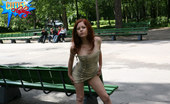 Cuties Flashing Raunchy Young Lass Takes Off Her Dress In The Park Cuties Flashing