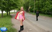 Cuties Flashing Little Flasher Shows Her Heavy Jugs Outdoors Cuties Flashing