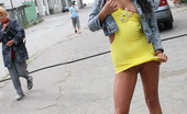 Cuties Flashing A Gorgeous Chocolate Keister Exposed To Public Cuties Flashing