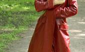 Cuties Flashing Ebony Teen Throws Her Leather Coat Open In Public Cuties Flashing
