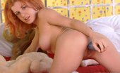 Ebina Models (XXX) Cute Ginger Playing With Her Big Blue Dildo Ebina Models