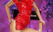 Ebina Models (XXX) Luna Moon Spreading In Red Latex Suit Ebina Models