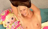 Ebina Models (XXX) Blond Slut Buffy In Bed Posing Ebina Models