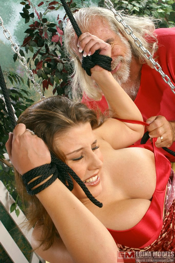 Ebina Models Xxx Erica Campbell Having A Rough Time On The Swing