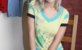 Cute Christina Hot Blonde Student Taking Off The Uniform Cute Christina
