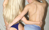Cute Panty Girls Lesbian Panty Lovers Start Playing With Each Other'S Silky Blue Panties Cute Panty Girls