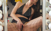 Cute Panty Girls Wild Brunette Secretary Shows Off Her Black Panties Under Fishnet Pantyhose Cute Panty Girls