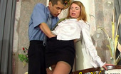 Love Nylons Alice & Nathan Nasty Sec Entertaining A Customer With The Look Of Nyloned Legs And Wet Box Love Nylons