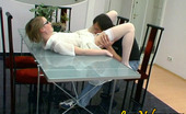 Love Nylons Abel & Roger Shy Looking Blonde In Specs And White Nylons Getting A Fucking Hot Workout Love Nylons