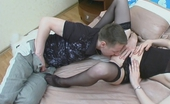 Love Nylons Meredith & Oscar Luscious Chick In Smooth Stockings Spreading Her Legs For Hard-Rock Pole Love Nylons