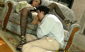Love Nylons Emmie & Adam Randy Housewife In Patterned Stockings Fingering Her Muff For Real Thing Love Nylons
