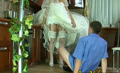 Love Nylons Nora & Bobbie Voluptuous Bride In Glossy White Stockings Getting Her Beaver Worked Hard Love Nylons