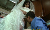 Love Nylons 492561 Nora & Bobbie Voluptuous Bride In Glossy White Stockings Getting Her Beaver Worked Hard Love Nylons