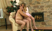 Love Nylons Diana & Lesley Cutie In Soft Silky Stockings Getting Banged From Behind By The Fire-Place Love Nylons