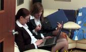 Love Nylons Helena & Jennifer Female Co-Workers In Black Stockings Going Wild In Wet Lesbian Intercourse Love Nylons