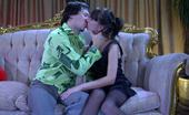 Love Nylons Madeleine & Rolf Hurt Chick In Black Gartered Nylons Having Reconciliatory Sex With Her Guy Love Nylons