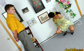 Love Nylons 492663 Laura & Peter Hottie In Luxury Stockings Surrenders To Frantic Fucking At Art Exhibition Love Nylons