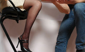 Love Nylons Susanna & Roger Nylon-Addicted Pair Derive Pleasure From Doggystyle Fucking On The Stool Love Nylons