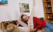 Love Nylons Polly & Gilbert Horny Neighbor Spying Upon Blondie In Bridal Nylons Before Playing 69 Game Love Nylons