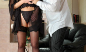 Love Nylons Diana & Lesley Red Hot Babe In Ultra Shine Stockings Getting Her Muff Rammed On The Floor Love Nylons