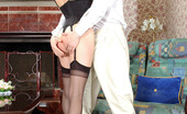Love Nylons Marion & Mike Redhead Chick In Black Stockings Giving Cock A Good Workout In Various Ways Love Nylons