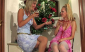 Lacy Nylons Sophia & Grace Cutie In Lacy Stockings Sharing Her Lez Experience With Gal In White Nylons Lacy Nylons