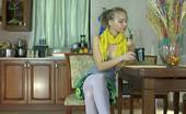 Lacy Nylons Irene Mischievous Babe Takes Out Her Sex Toy Spreading Her White-Stockinged Legs Lacy Nylons