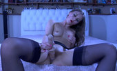 Lacy Nylons Mercy Long-Haired Cutie Licks And Stuffs Her Dildo Spreading Her Stockinged Legs Lacy Nylons