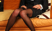 Lacy Nylons Marion Office Babe In Full-Fashioned Black Nylons Smoking And Reaming Her Asshole Lacy Nylons