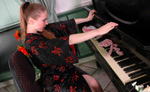 Lacy Nylons Elena Kinky Chick In Pink Stockings Playing With Her Pussy Instead Of The Piano Lacy Nylons