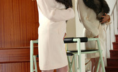 Lacy Nylons Alice Hot Gal In White Stockings Spreading Her Pussy Lips And Dipping Her Fingers Lacy Nylons