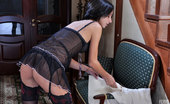 Lacy Nylons Tessa Dark-Haired Hottie Clad In Expensive Designer Stockings Enjoying Phone Sex Lacy Nylons
