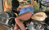 Pantyhose TV Nice Jay In Black Pantyhose Riding Her Motorcycle Pantyhose TV
