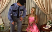 Nylon Screen Hot Policeman Getting Stiff Surprise For Sexy Gal In Slight Sheen Stockings Nylon Screen
