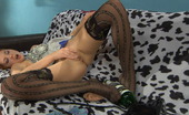Nylon Screen Red-Haired Vixen Chooses Black Patterned Stockings For Her Solo Bottle Fuck Nylon Screen