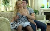Nylon Screen Desirable Blonde In Gartered Stockings Gets Her Muff Eaten And Crammed Hard Nylon Screen