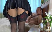 Nylon Screen Upskirt Maid In Lace Top Stockings Getting Fucked For A New Pair Of Nylons Nylon Screen