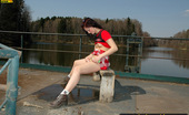 Pissing Outdoor Teen Brunette Pisses On The PierTeen Brunette Pisses On The Suburban Pier While Her Outdoor Walk As She Loves Pissing Outdoor Pissing Outdoor